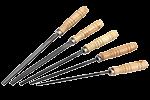 Напильники с деревянной ручкой